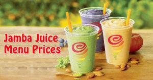 Jamba Juice Menu Prices