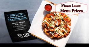 Pizza Luce Menu Prices