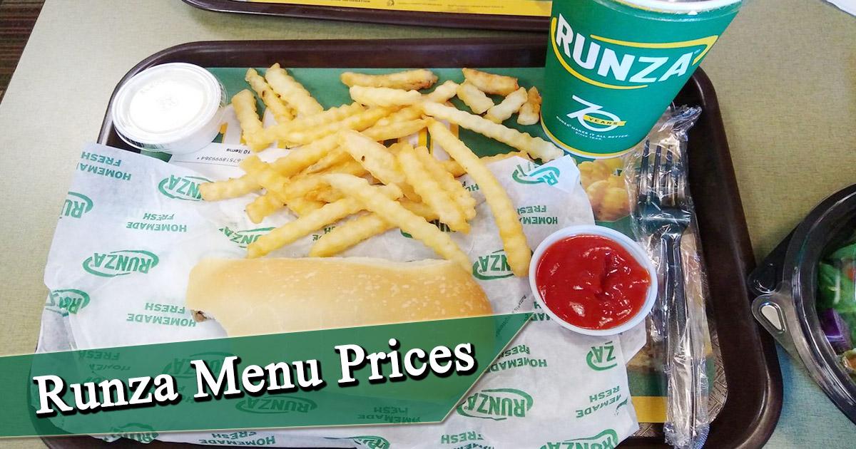 Runza Menu Prices