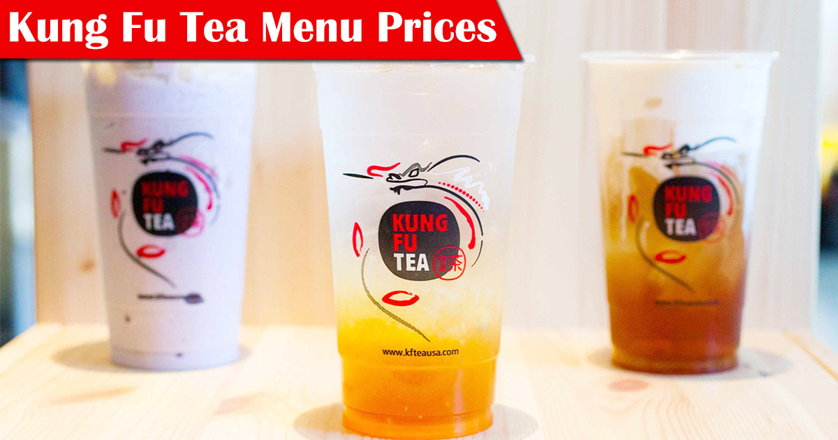 Kung Fu Tea Menu Prices