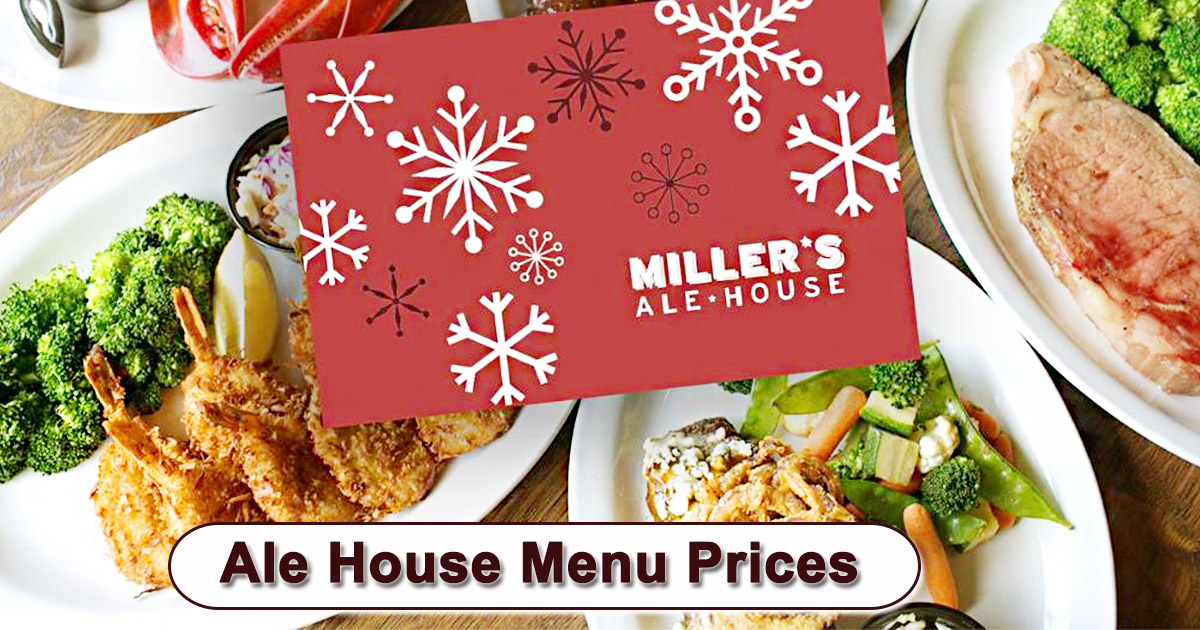 Ale House Menu Prices
