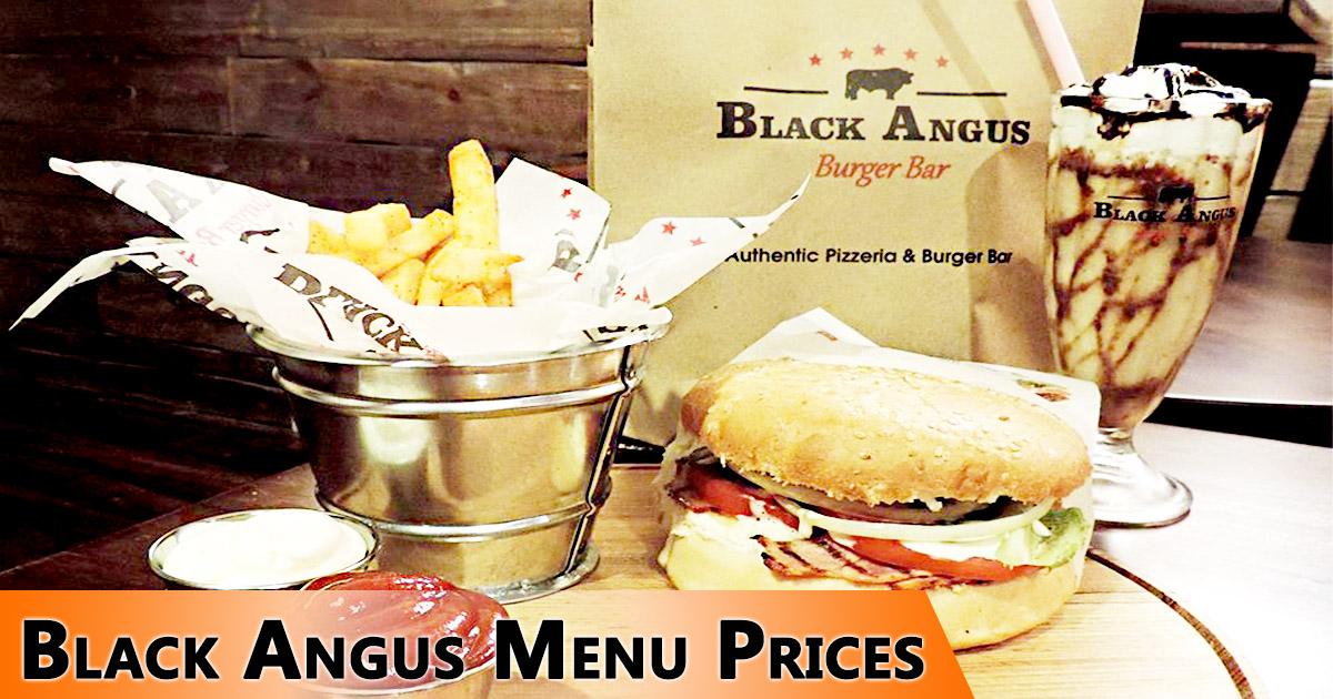 Black Angus Menu Prices