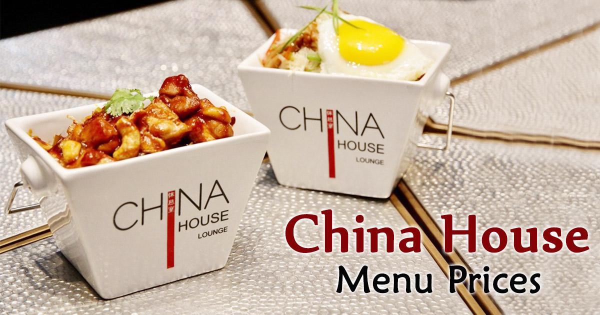 China House Menu Prices