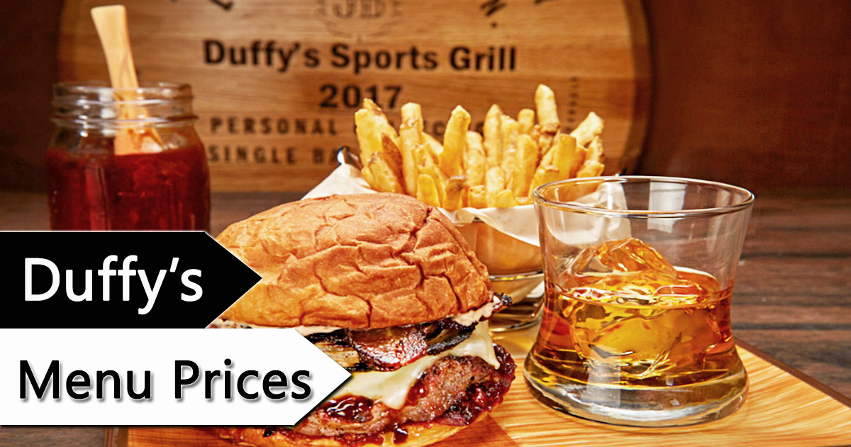 Duffys Menu Prices