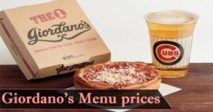 Giordanos Menu Prices