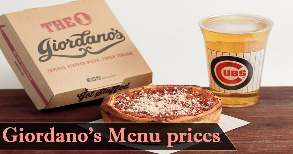 Giordanos Menu Prices