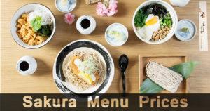 Sakura Menu Prices