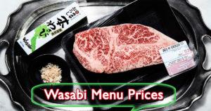 Wasabi Menu Prices