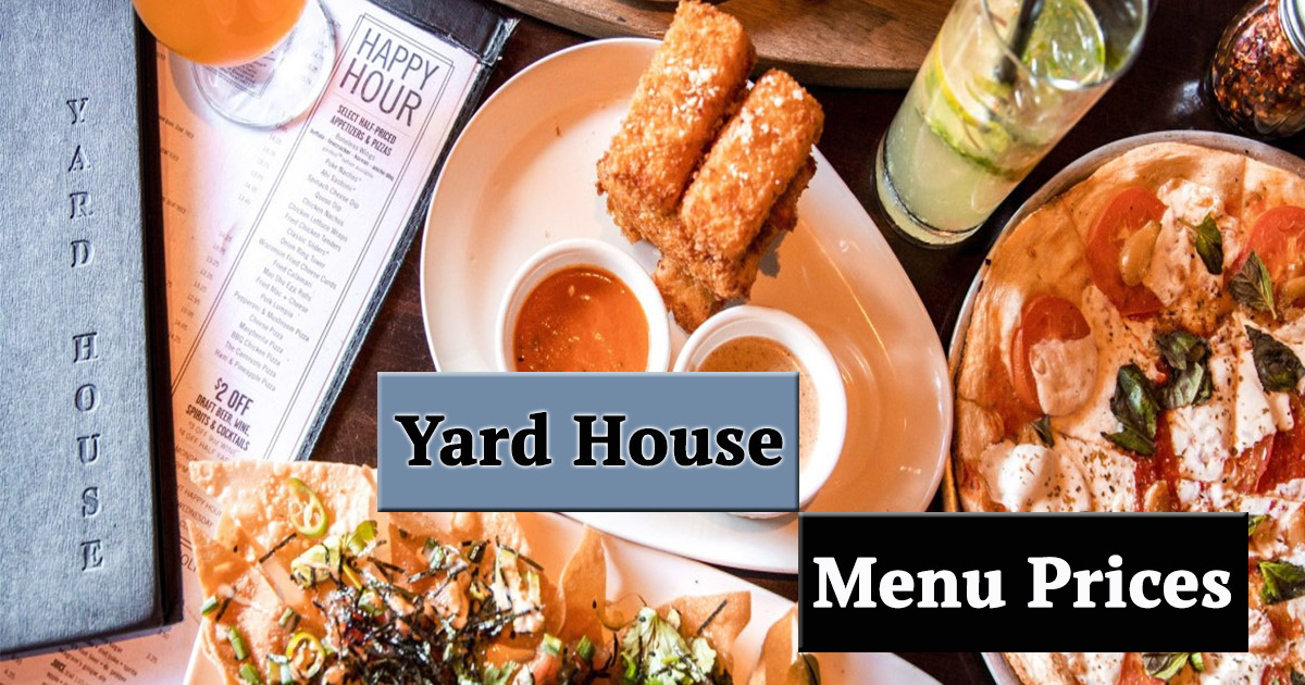 Yard House Menu Prices