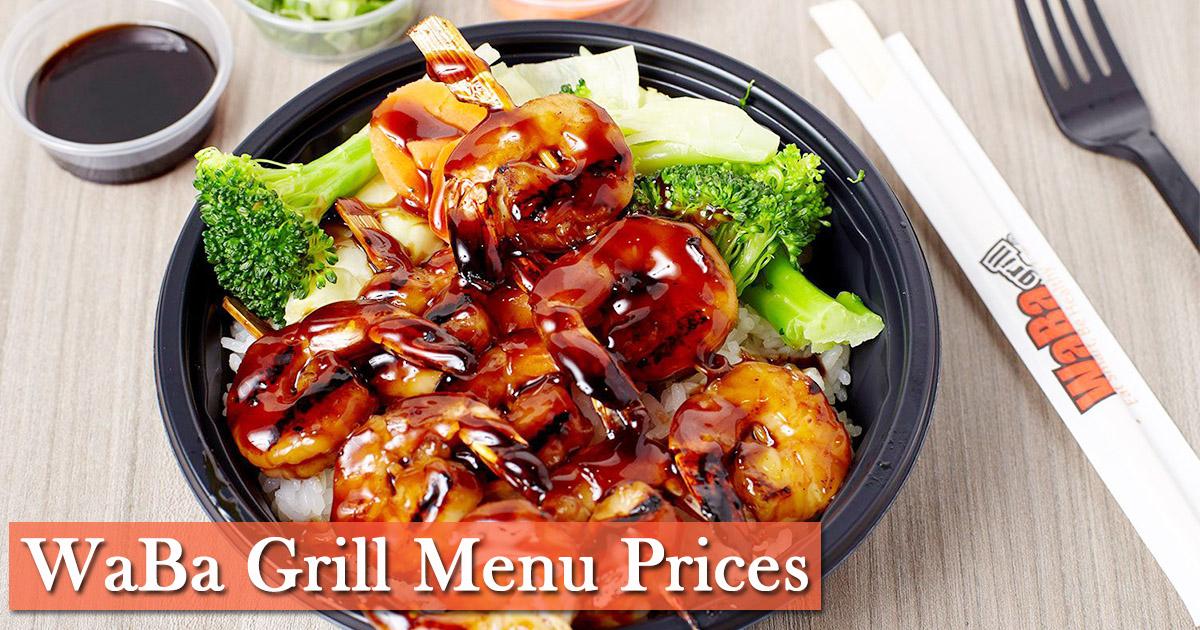 Waba Grill Menu Prices