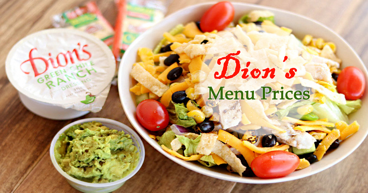Dions Menu Prices