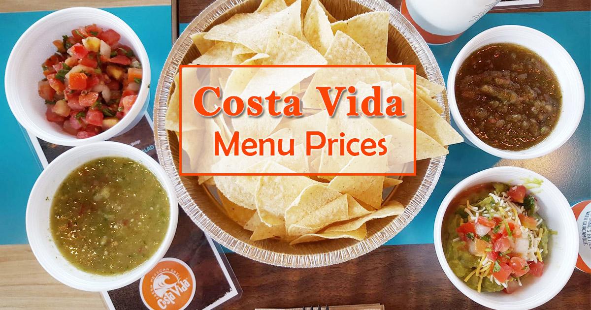 Costa Vida Menu Prices Image