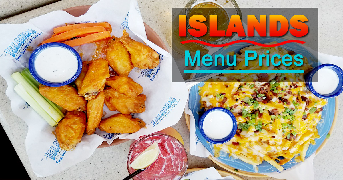 Islands Menu Prices Image