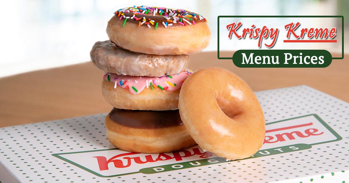 Krispy Kreme Menu Prices Image