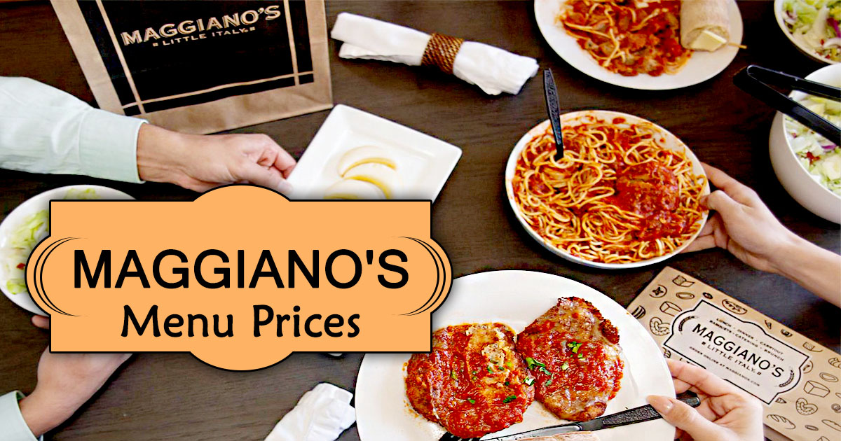 Maggiano's Menu Prices Image