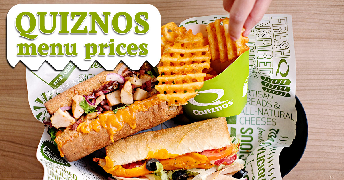 quiznos menu prices image