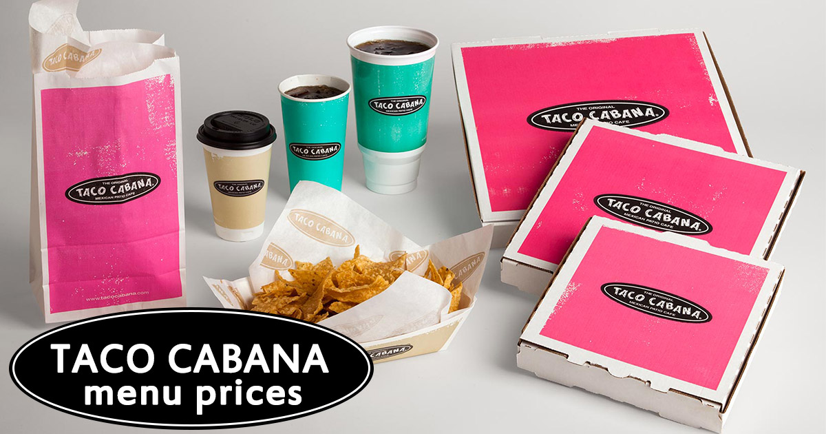 taco cabana menu prices image