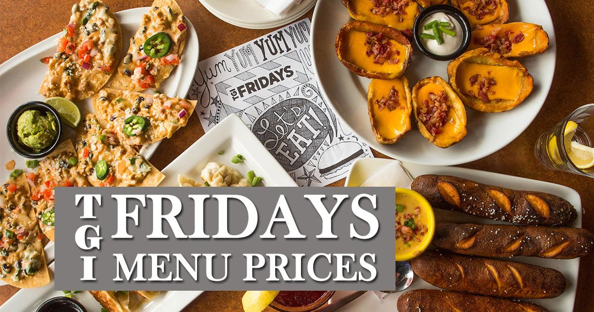 tgi fridays menu prices image
