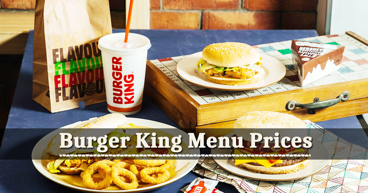Burger King Menu Prices Image