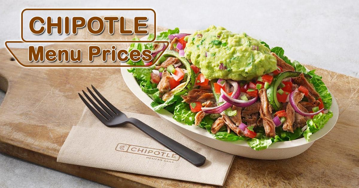 chipotle menu prices image