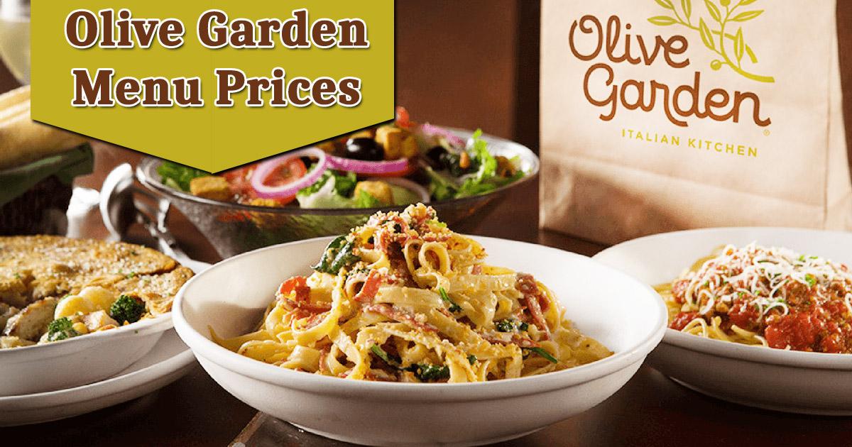 Olive Garden Menu Prices Image