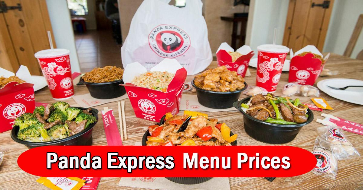 Panda Express Menu Prices Image