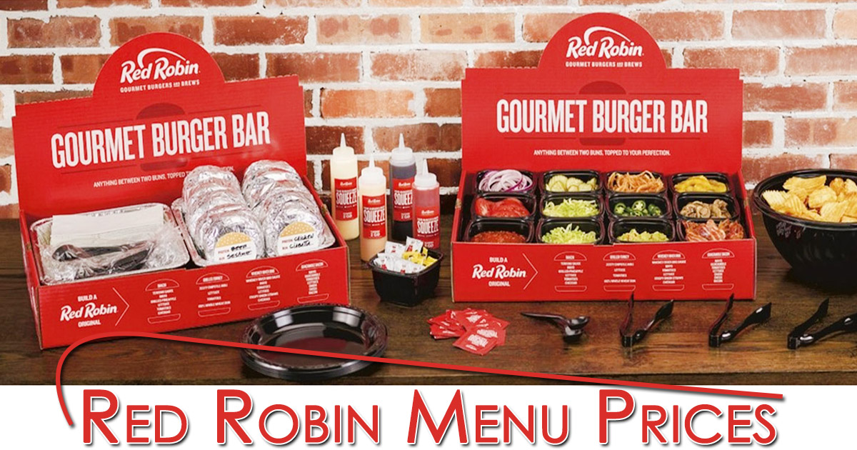 Red Robin Menu Prices Image