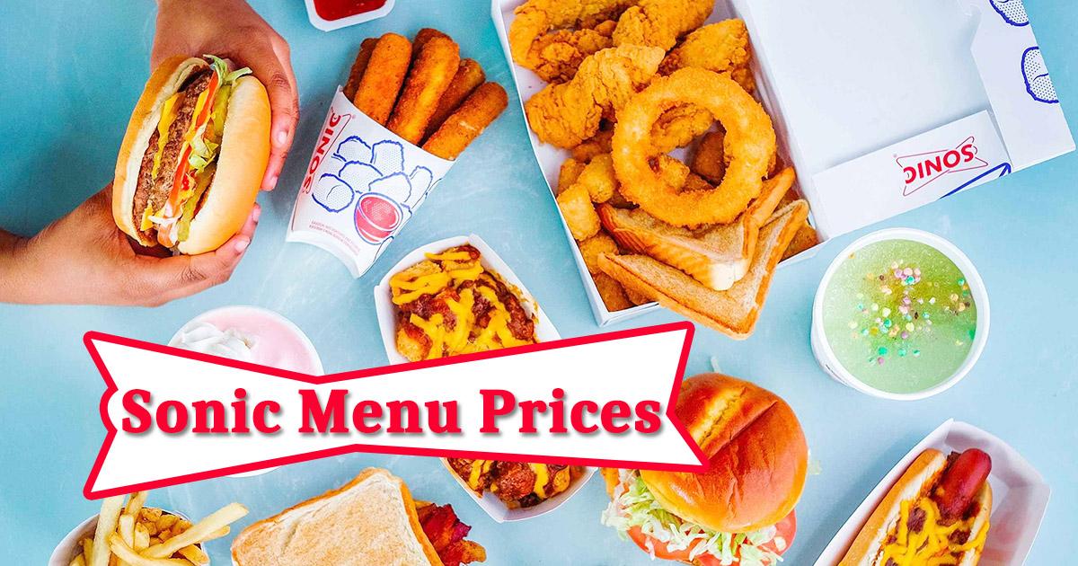Sonic Menu Prices Image
