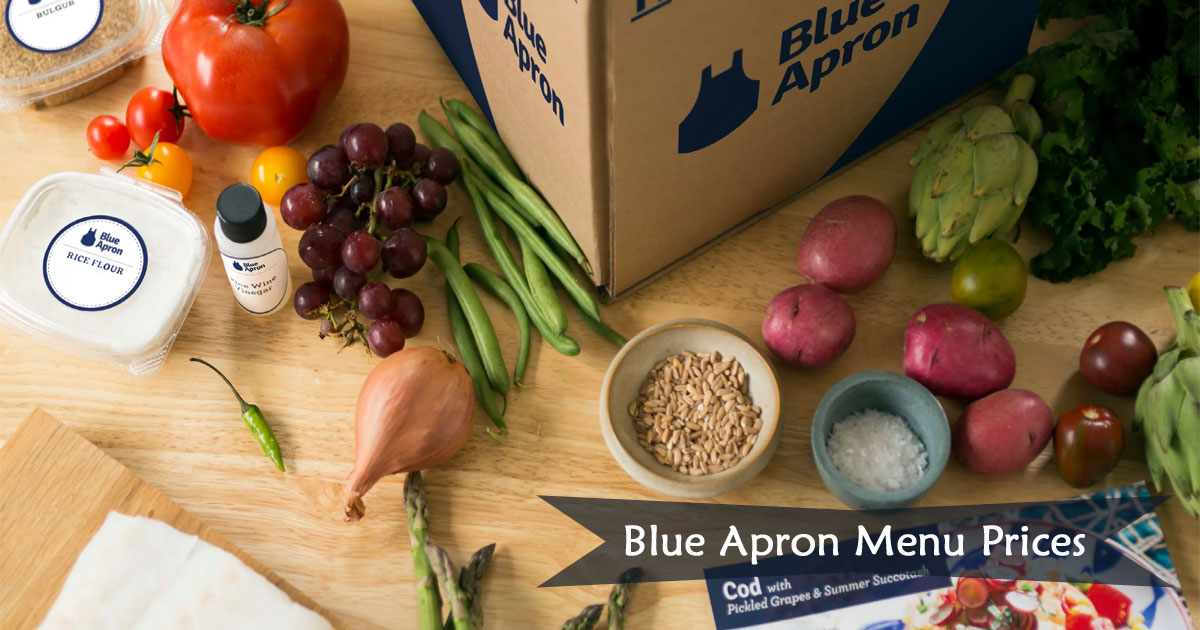 Blue Apron Menu Prices Image