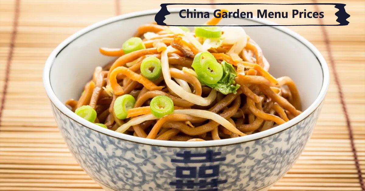 China Garden Menu Prices Image