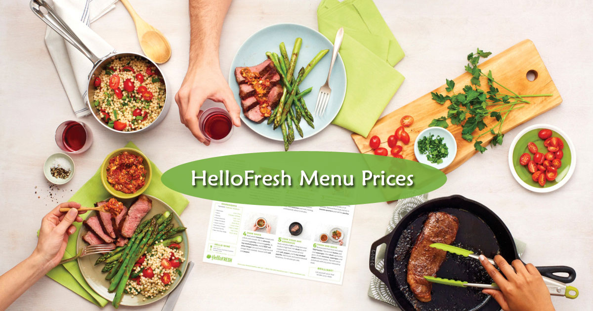 Hello Fresh Menu Prices Image
