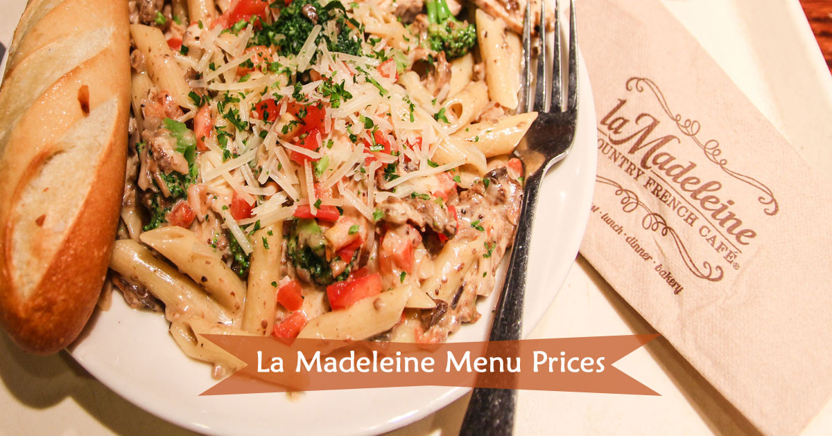 La Madeleine Menu Prices Image