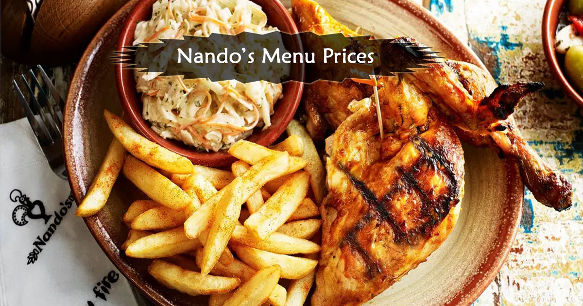 Nandos Menu Prices Image